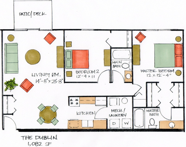 The Dublin Floor Plan Amherst Ridge