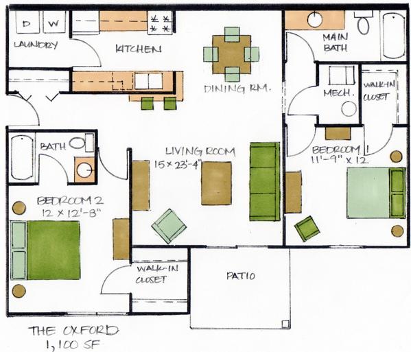 The oxford floor plan amherst ridge for Oxford floor plan